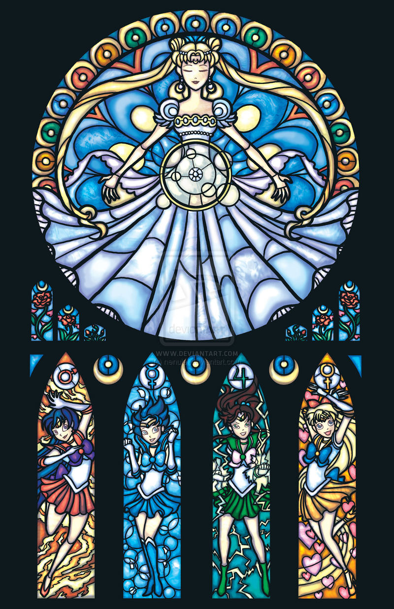 Sailor Moon Stained Glass por nenuiel