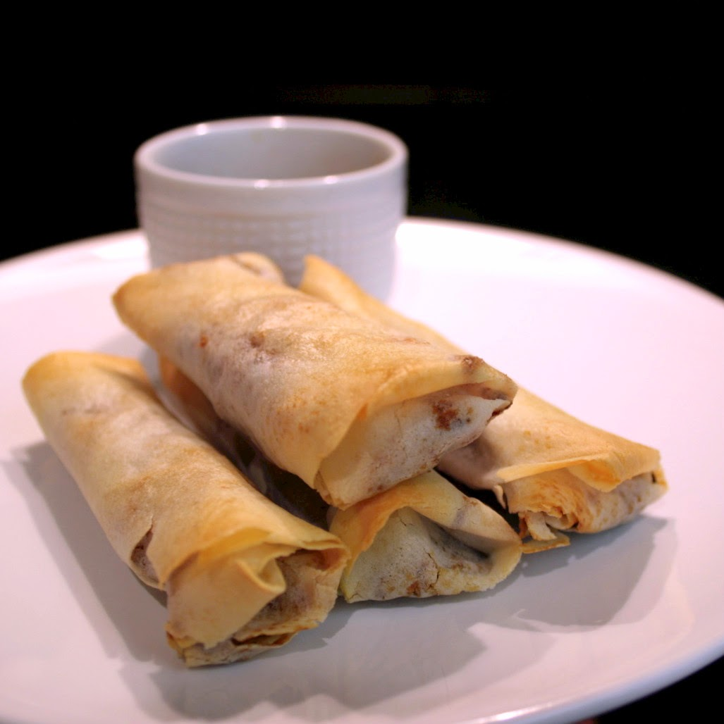 A healthier version of the normal deep fried spring rolls