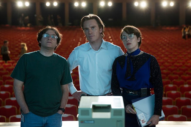 "Michael Stuhlbarg, Michael Fassbender, and Kate Winslet star in Danny Boyle's ""Steve Jobs"""