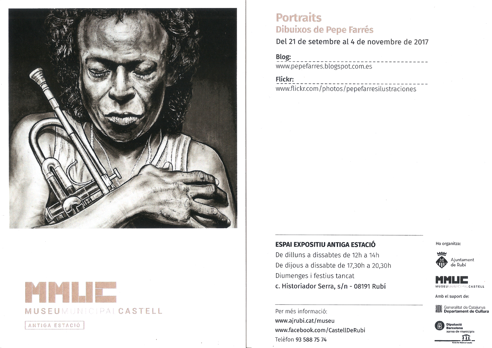 Exposició, dibuixos de Pepe Farrés