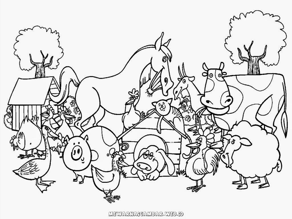 kumpulan gambar binatang ternak untuk diwarnai