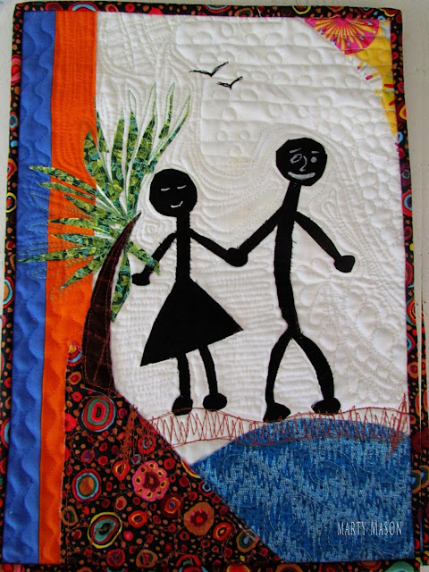 """Opposites Attract"" art quilt by Marty Mason"