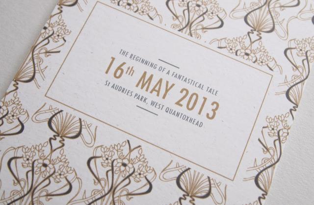 Great Gatsby invite - Alfies Studio