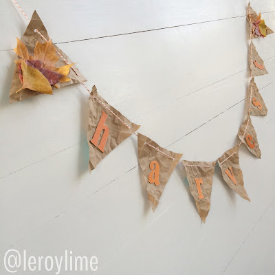 How to make a paper bag banner w/LeroyLime