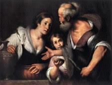 El profeta Elias y la viuda de Sarepta. Bernardo Strozzi (1581-1644)