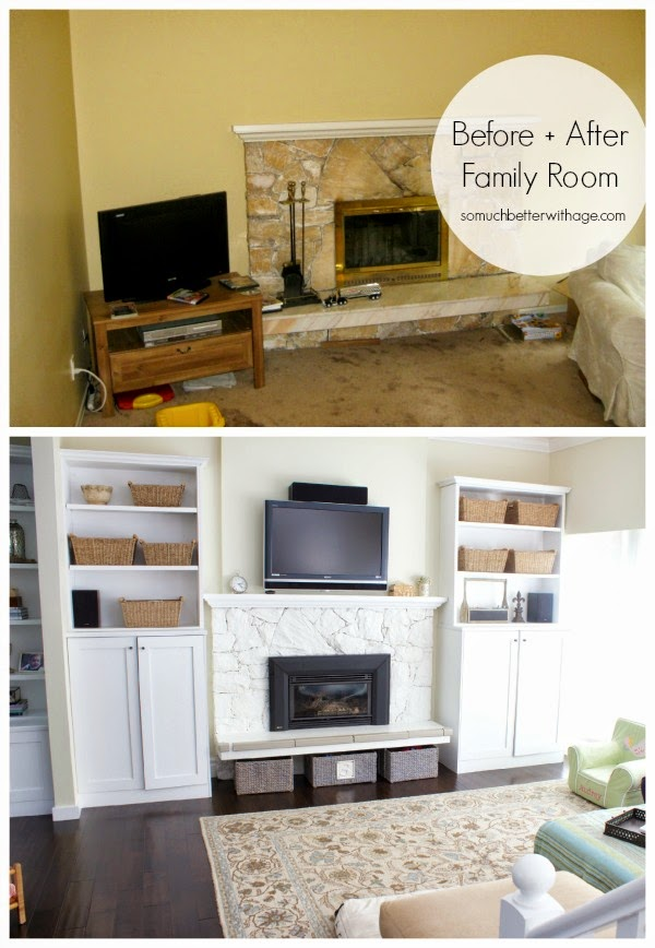 10 COLORFUL Before and After Features, Living Room Makeover.