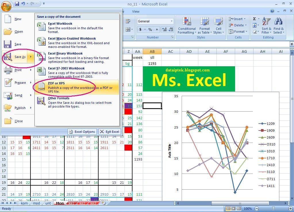 cara convert excel to pdf