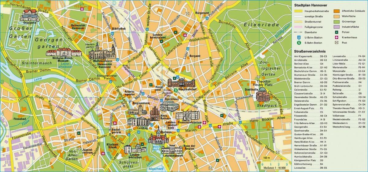 mapa ciudad de hannover
