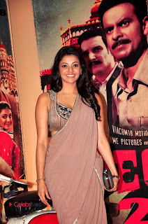 Kajal Agarwal Latest Pictures in Saree at Special 26 Audio Launch  0001