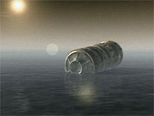 Objeto cilíndrico en océanos