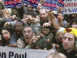 Zombies with Ron Paul signs