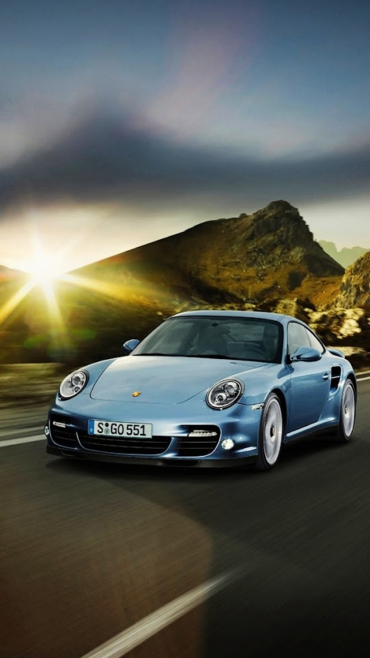 Porsche 911 Blue   Galaxy Note HD Wallpaper
