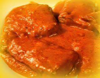 Corvina en salsa de pimiento