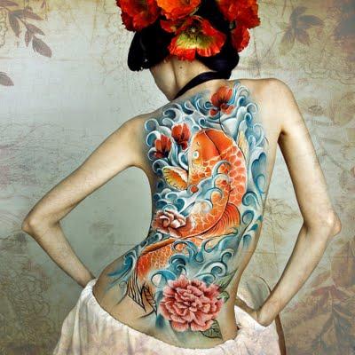 fashion us japanese koi fish tattoos. Black Bedroom Furniture Sets. Home Design Ideas