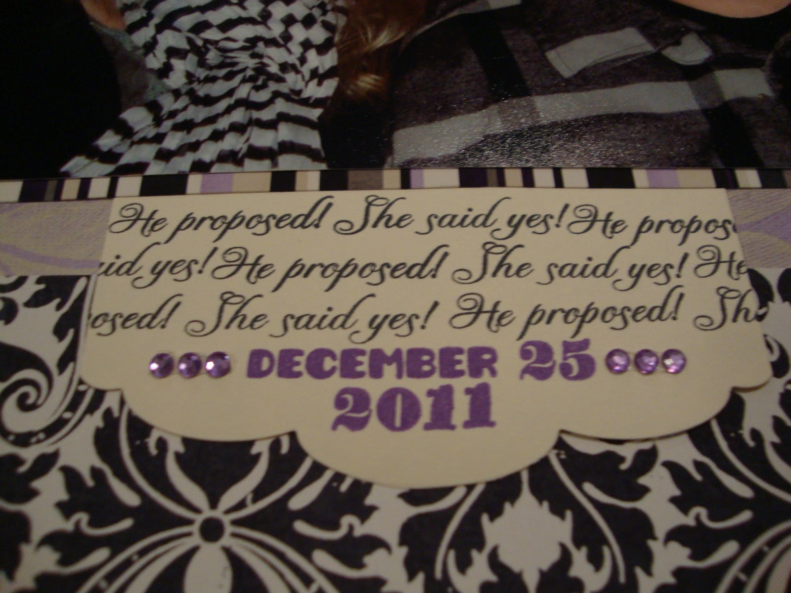 Empty Next Crafter Engaged Scrapbook Page