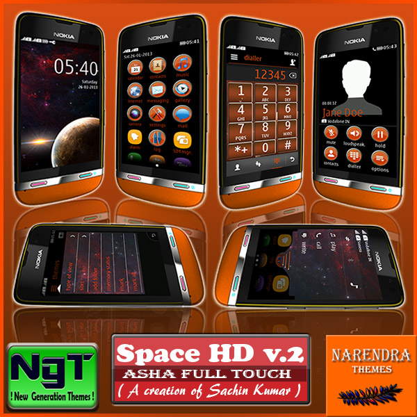 Narendra's Themes: Space HD 2 ! Asha Full Touch