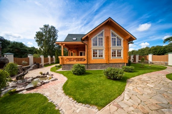 Romantic Natural Wooden House Style