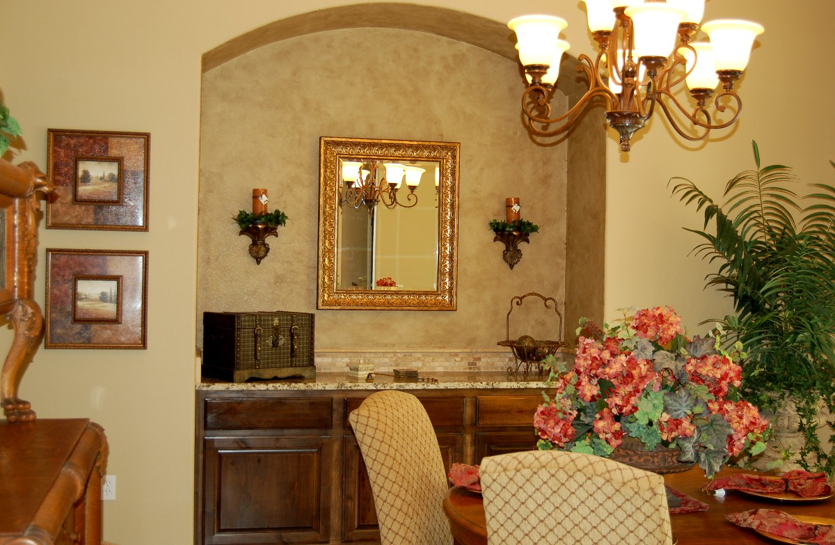 Charming Dining Room Niche Ideas Part - 7: Dining Room Update- Faux Painted Niche