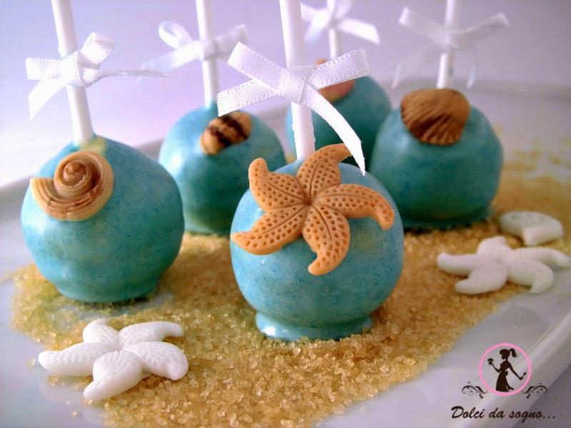 cake pops tema mare