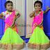 Kid in Light Green Half Saree