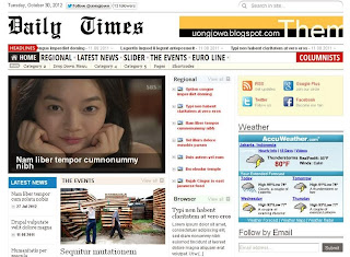 Daily Times - Free News Blogger Template