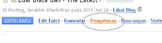 Pengaturan Blogspot