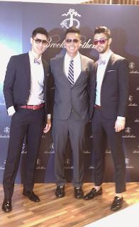 何守正、毛加恩、簡浩為Brooks Brothers新櫃站台  優雅詮釋都會男子摩登新風貌。