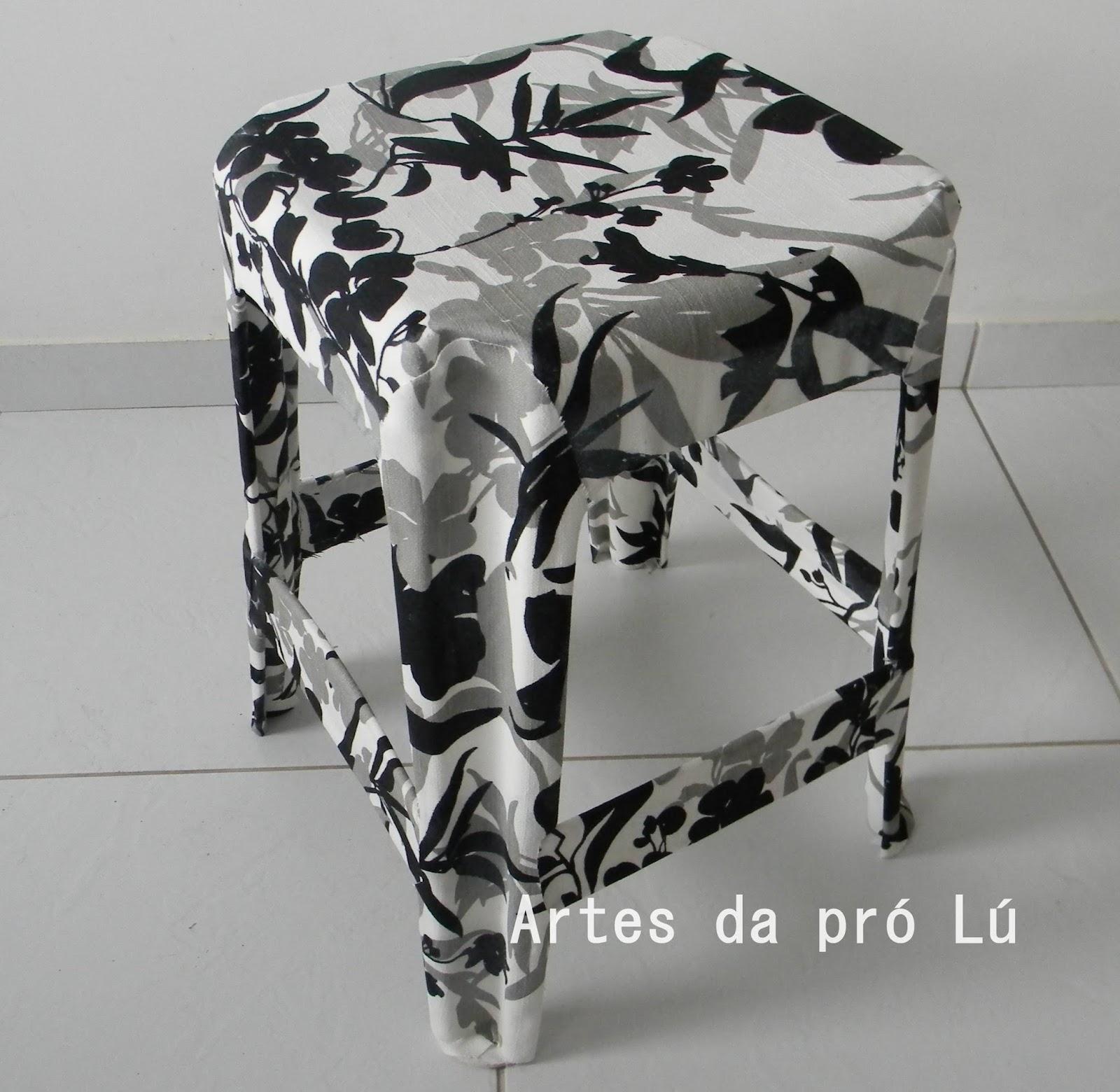 da Pró Lú: Vídeo: Como forrar um banquinho plástico com tecido #4F5059 1600x1560