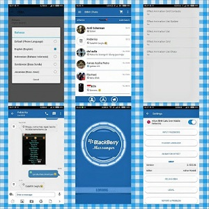 Aplikasi Blackberry Messenger Tema Mix Blue Versi 2.10.0.35 Terbaru