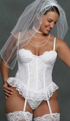 Roupa interior de noiva tamanhos grandes