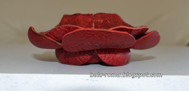 Мастер-класс - цветок из кожи - камелия.