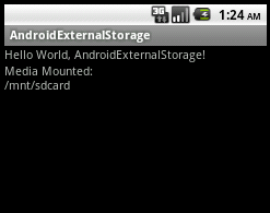 Check and Gets the Android external storage directory