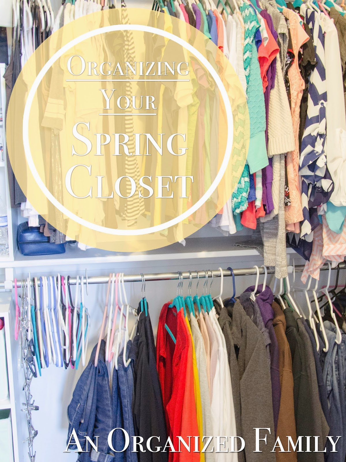 purge and organize all you clothes for spring