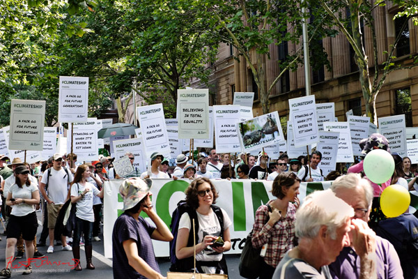 #ClimareShip marching Macquarie Street - Sydney, Climate Change March, The Domain, Macquarie Street, Climate Change, Protest, #NoPlanetNoFuture, #PeoplesClimate, #PeoplesClimateMarch, #Sydney,