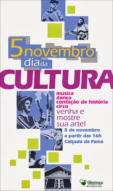 Dia da Cultura será comemorado em Teresópolis dia 05/11/13