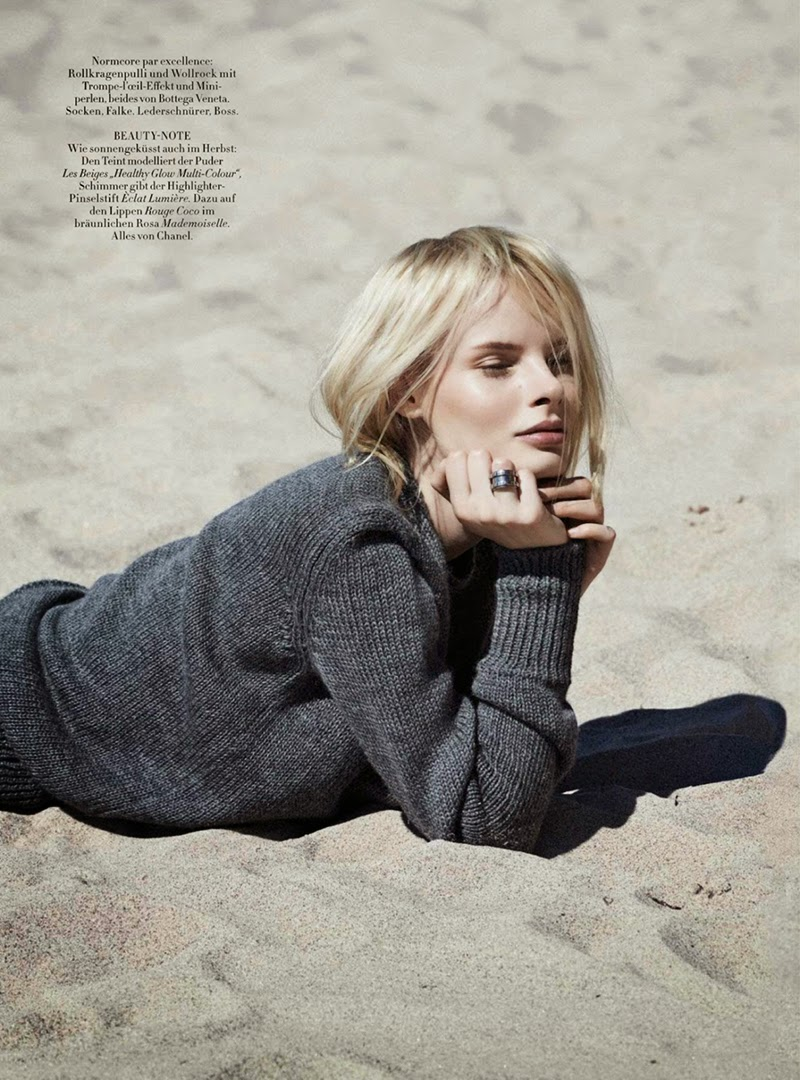 The New Black: Irene Hiemstra By Daniel Riera For Harper's Bazaar Germany October 2014