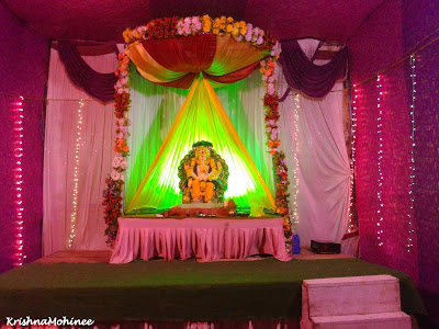 Image: Lord Ganesha Pendal Near JaiHind Senior College - Dhule