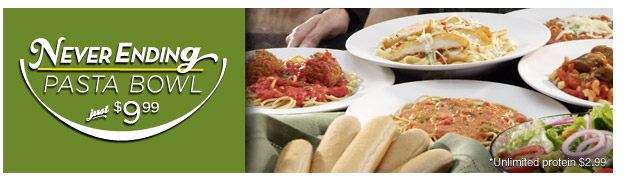 News olive garden never ending pasta bowl returns brand eating for Olive garden endless pasta bowl