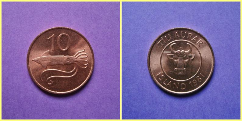 Moneda 0.10 Coronas Islandia