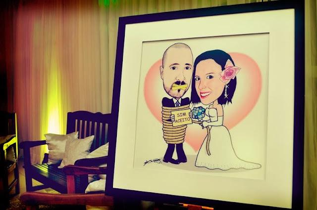 Caricatura de noivos M2LOPES