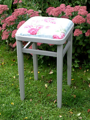 Refurbished floral stool
