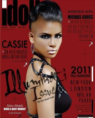 Cassie en couv' de Idoll Magazine numéro spécial Illuminati
