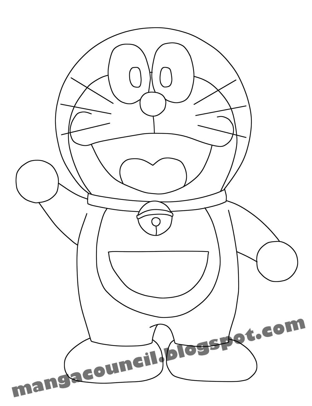 cara menggambar anime doraemon manga council 16