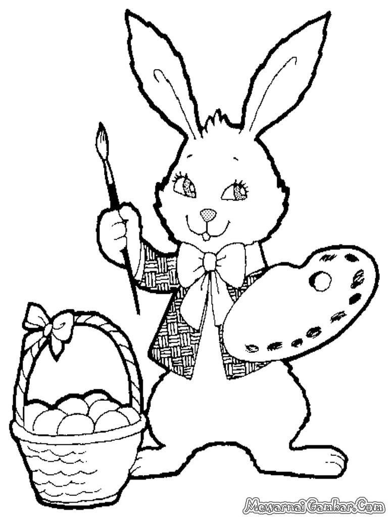 Mewarnai Gambar Kelinci gambar mewarnai kelinci