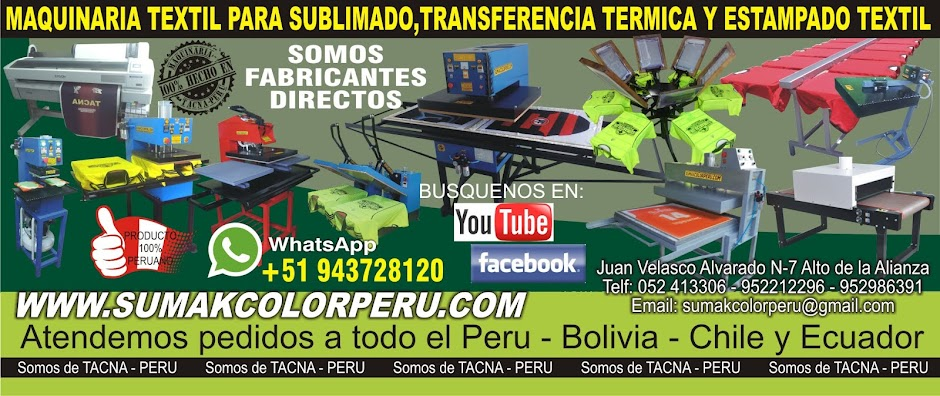 SUBLIMADORAS,PLANCHAS TRANSFER,FUSIONADORAS,MAQUINAS SERIGRAFICAS,PLOTTER DE SUBLIMACION