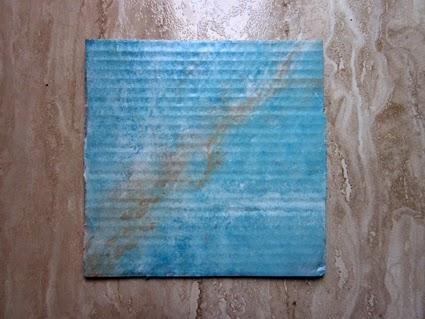 Prueba de marmoleado sobre cartón