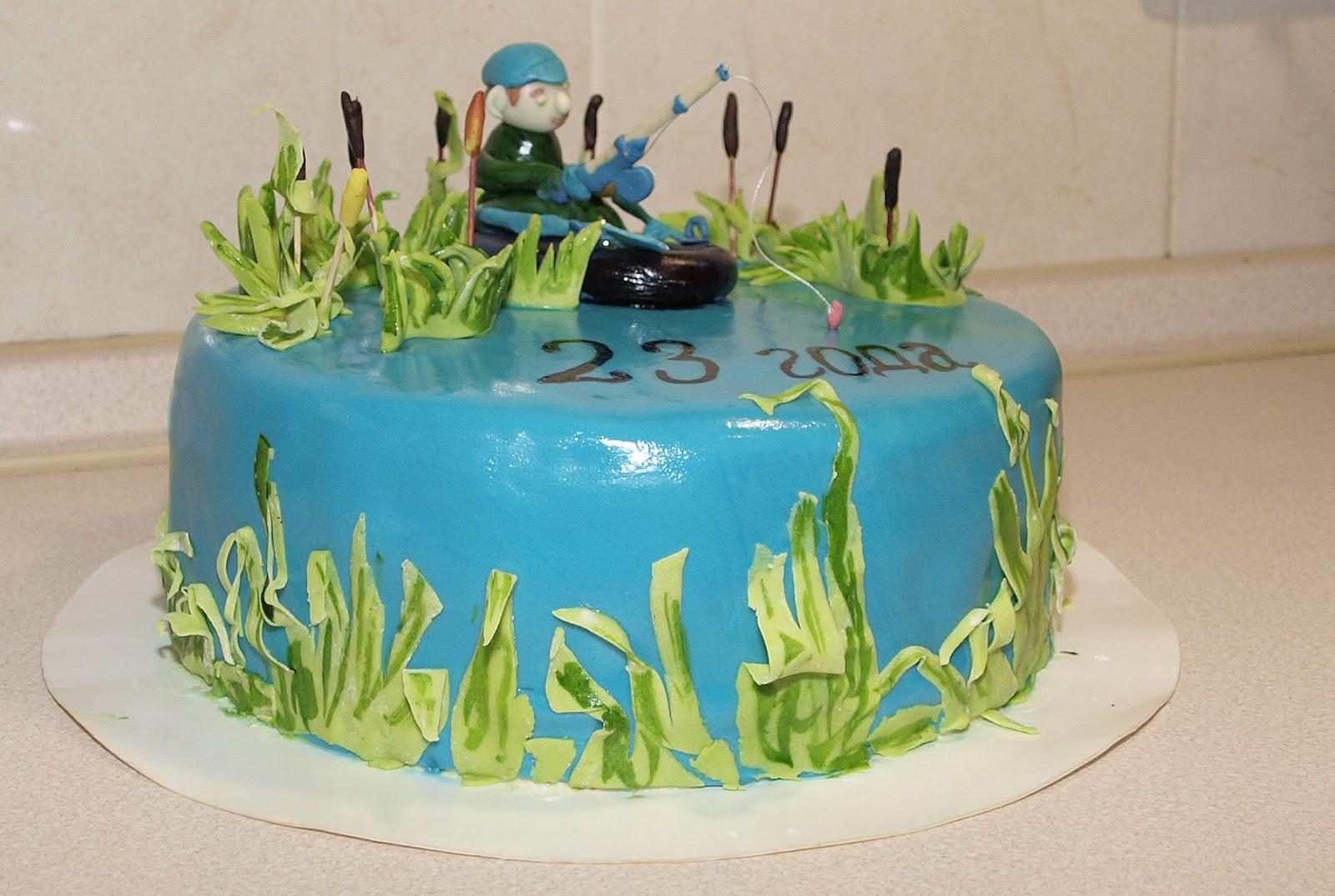 Рыбак на торт пошагово