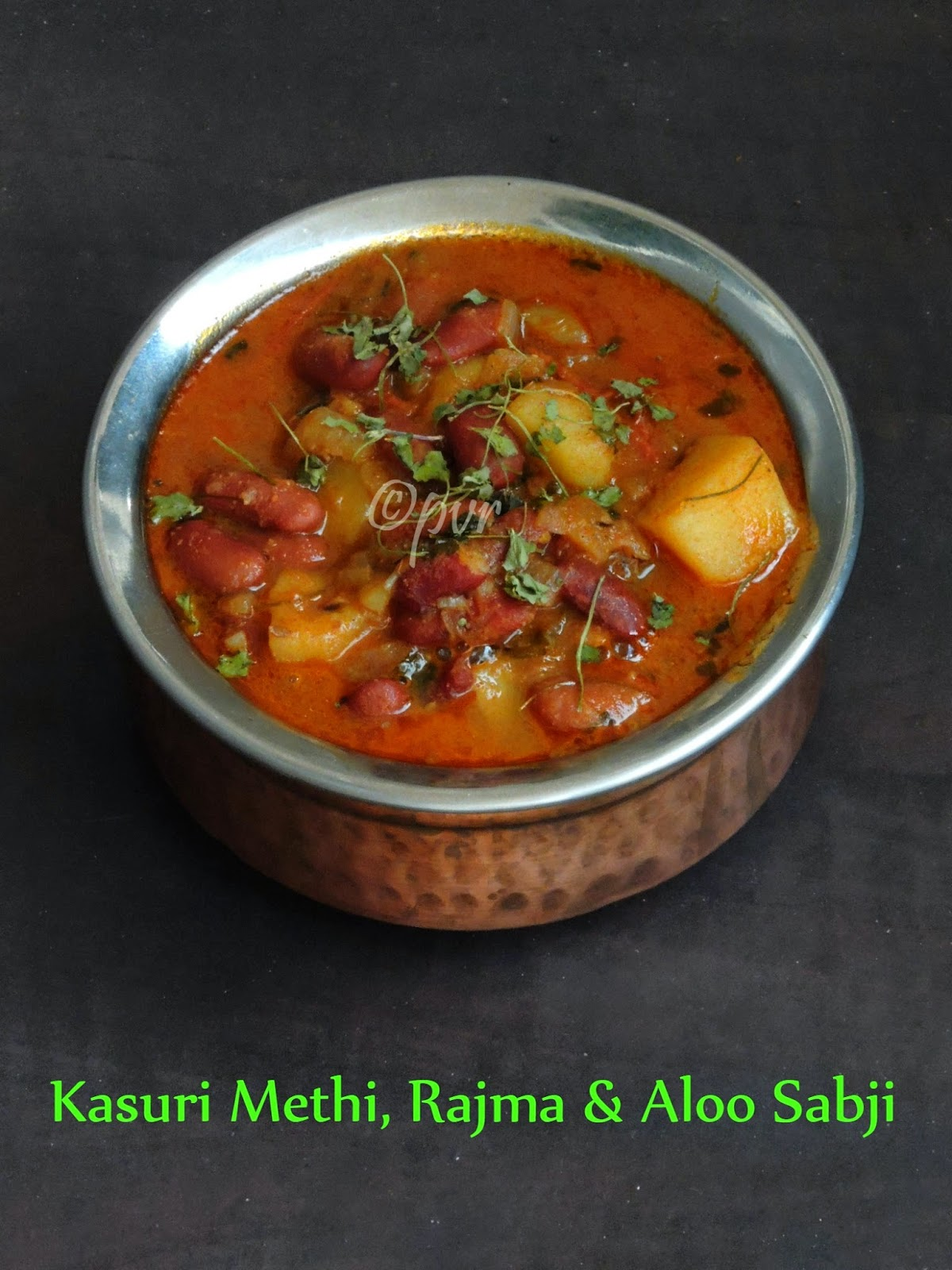 Kasuri Methi, Rajma & Aloo Sabji