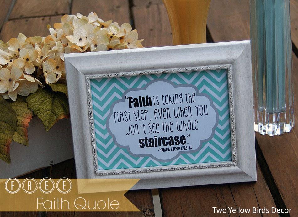 Two yellow birds decor faith quote decor free printable for Faith decor