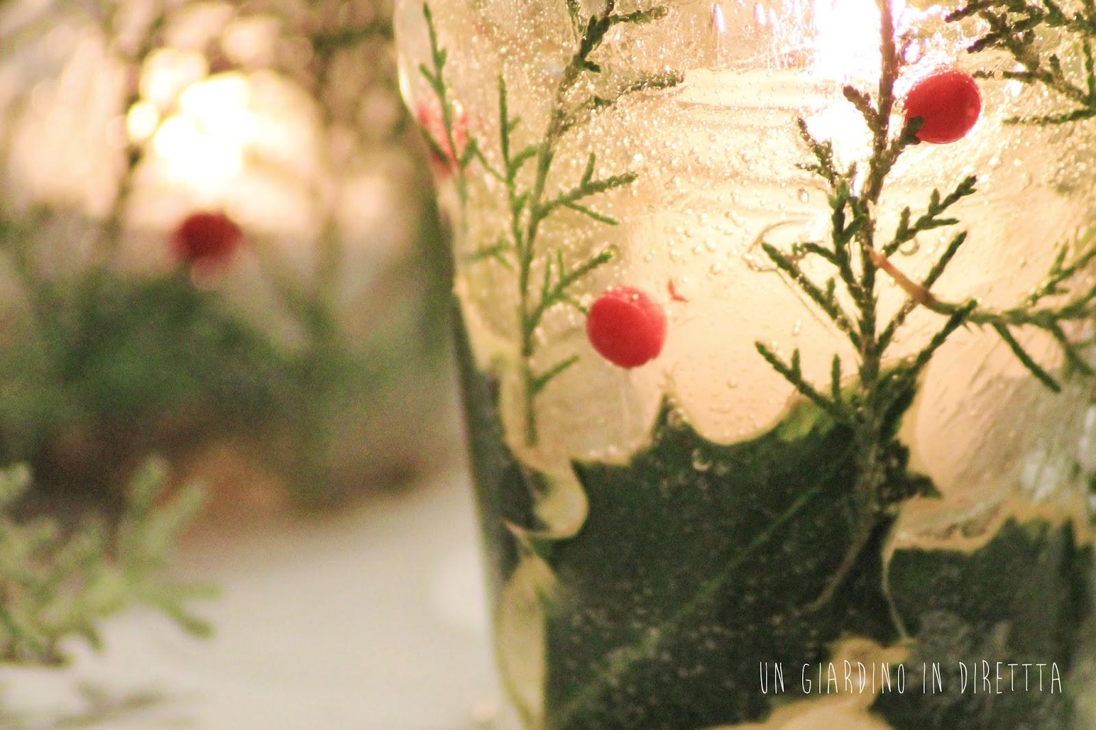 Fai da te le lampade di ghiaccio per natale al verde un giardino